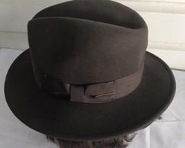 INDIANA JONES Dorfman Pacific Brown WOOL FELT FEDORA HAT Size S - $29.69