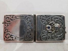 Antique Fraternal Elks BPOE Sterling Silver Card Case / Enameled Plague -1900's image 5