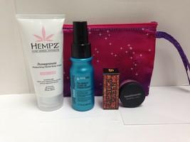 Lot of 4 Hempz, Lipstick Queen, BareMinerals Mixed Makeup Lot & Beauty Bag - $15.96