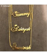 Christmas Gift Custom Crown Name Necklace Personalized Jewelry Silver Ro... - £19.88 GBP