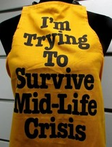 Now Designs 1980's Vintage Cooking Apron I'm Trying To Survive A Mid Life Crisis - $14.32