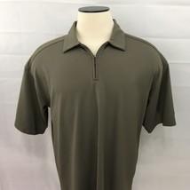 Mens Nike Sphere Golf Size XL Short Sleeve Quarter Zip Polo Shirt - $6.89