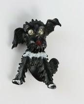 Signed Costume Fashion GERRY'S Black Scottish Terrier Dog Rhinestone Bro... - $8.90