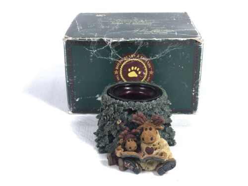 Primary image for Boyds Bears Candle Holder Figurine Maynard & Melvin Tales of the North In Box!
