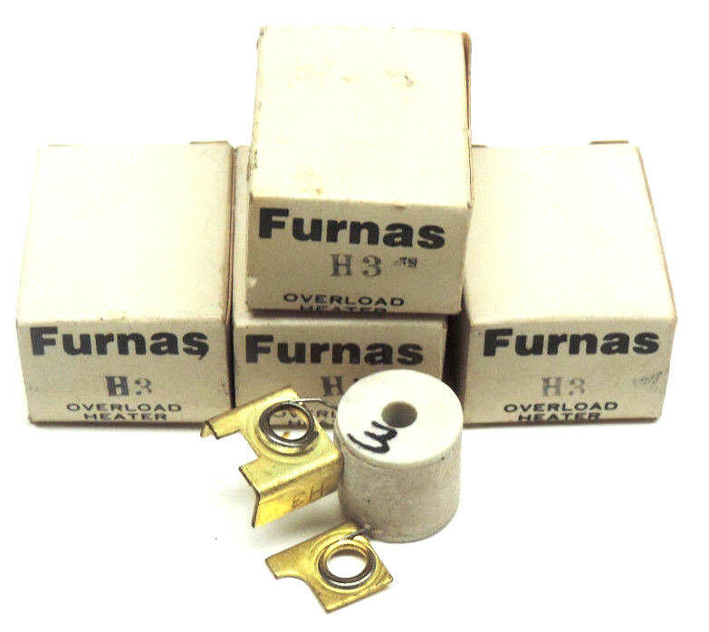 LOT OF 4 NIB FURNAS H3 THERMAL OVERLOAD HEATER ELEMENTS