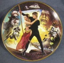 Return Of The Jedi Collector Plate Star Wars Trilogy Carrie Fisher Mark ... - $64.95