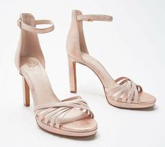 Vince Camuto Ankle Strap Heeled Sandals- Beresta Blush 7 M - £53.86 GBP