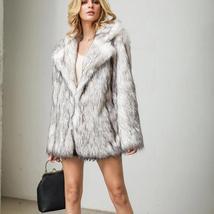 Women's Winter Luxury Fashion Faux Fur Coat image 4
