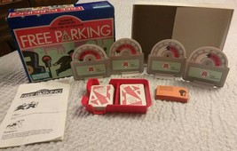L@@K VINTAGE 1988 PARKER BROTHERS FREE PARKING FEED METER BOARD GAME COM... - $10.00