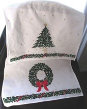 "Christmas Holiday Kitchen Towels: 1 Wreath Design, 1 Tree Design 26"" x 1... - $14.99"