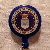 Air Force Badge Reel Id Holder Military Alligator Clip Handmade New - $8.99