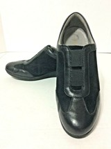 Clark's Women's Artisan Black Leather & Suede Slip-On Wedge Shoes - Size... - $16.99