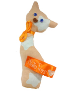 "Handmade ""Cat"" toy in peach cotton - $30.00"