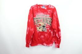 Vtg 90s Champion Mens Large San Francisco 49ers Acid Wash Crewneck Sweat... - $58.87