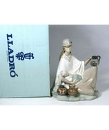 Lladro Porcelain Figurine Peruvian Girl With Baby #4822 Mint With Origin... - $277.20