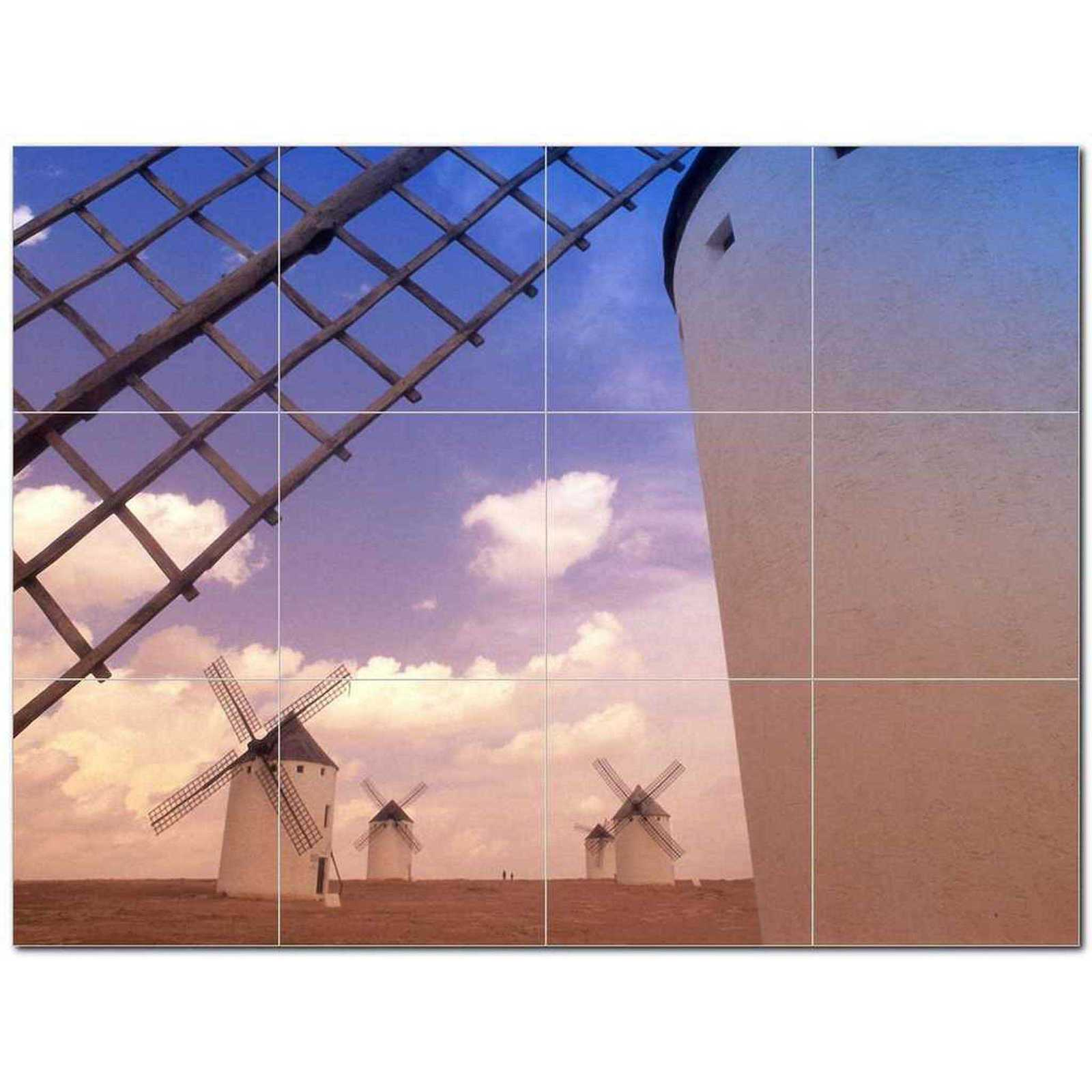 Primary image for Windmill Picture Ceramic Tile Mural Kitchen Backsplash Bathroom Shower BAZ406354