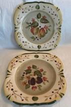 Set of 2 Certified International La Toscana Dinner Plates Pamela Gladding Sq - $29.99