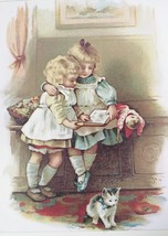 Perfect for Library! Nostalgic Litho 1975 Art Print. First Lesson -Helen... - $25.73