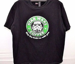 Star Wars Coffee Black T-shirt May the froth be with you XL short sleeve... - $22.99
