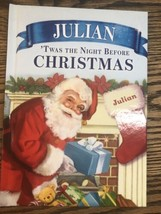 Personalized Julian Twas the night before Christmas put me in story book - $7.91