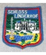 Schloss Linderhof German Souvenir Palace Travel Patch Ettal Germany - $5.95