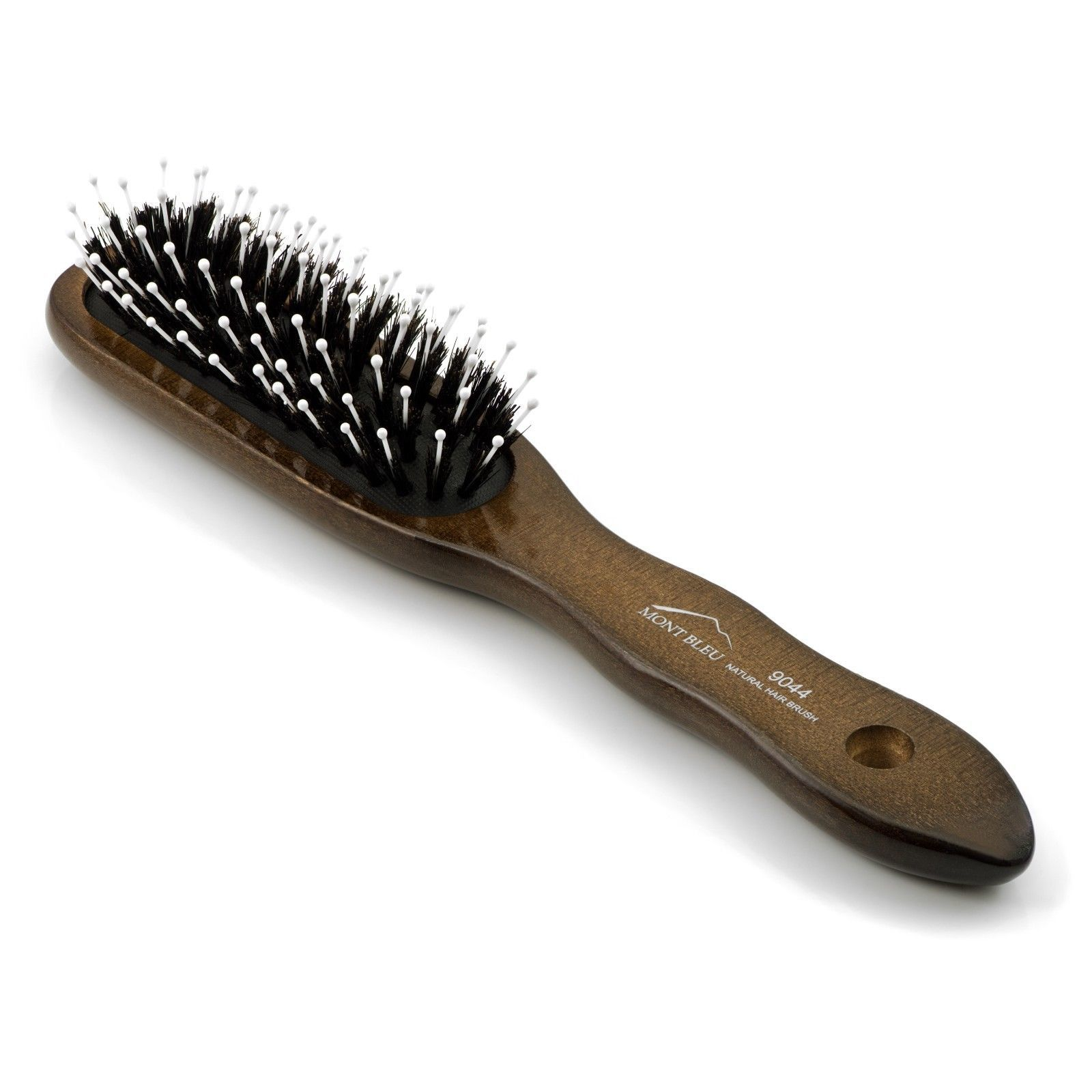 "Mont Bleu Wooden Hair Brush HBMB-20.3 made with SWAROVSKI® ""Flowers II Green"""