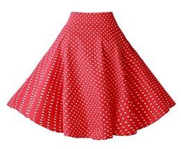 BI.TENCON Women's 1950s Vintage Red White Small Polka Dot Swing Casual A... - $24.82