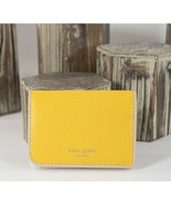 Kate Spade Vibrant Canary Yellow Leather Sam Small Bifold Wallet NWT  - $68.81