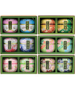 Japanese green tea set with can and box - 6 type - $76.99