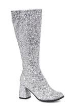Ellie 7.6cm Glitter Silber Gogo Tänzer Damen Kostüm Absatz Schuhe Stiefel - $51.37