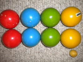 Vintage 1980's The Newport Franklin Bocce Ball Set Imported Italy - $44.54