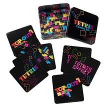 TETRIS Video Game Images 10 Piece Coaster Set in Tin Storage Box NEW SEALED - $19.30