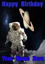 German Shepherd Space suit moon A5 Birthday Greeting Card A5 Codespd - $4.10