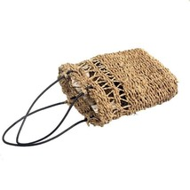 Hand-Woven Seagrass Storage Basket Nordic Simple Fruit Gardening Wall Ha... - $20.00