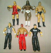 Lot of 6 Jakks Pacific WWE Figures Mix 2003, 2005, Mysterio, Dreamer, Orton, Mic - $39.99