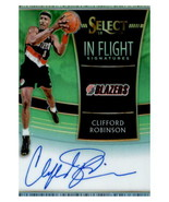 Clifford Robinson 2018-19 Panini Select Green In Flight Auto Card #IF-CRB 8/99 - $30.00