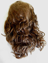 New Medium Brown Mohair Doll Wig w/ Extensions Size 6-7 for Anitque Doll - $54.99