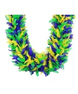 Mardi Gras Mix 80 gm 72 in 6 Ft Heavyweight Chandelle Feather Boa - $18.99
