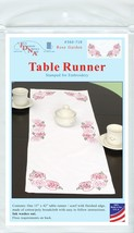 "Jack Dempsey Stamped Table Runner/Scarf 15""X42""-Rose Garden - $9.76"