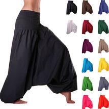 Women Harem Dhoti Pants/ Baggy Aladdin Genie/ Yoga Boho Gyp with - $20.00
