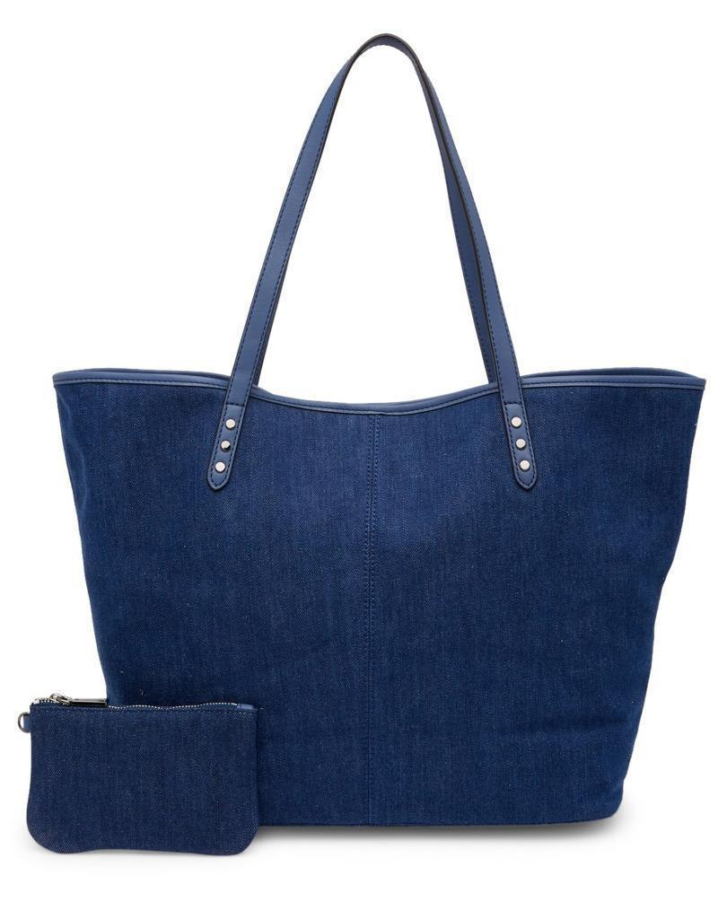 Primary image for New with Tag - $275 Rebecca Minkoff Dark Denim Suede Lined Tote Bag with Pouch