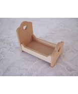 Miniature Doll House Unfinished Child's Bed Pennsylvania Dutch Craft - $7.00