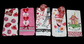2 LOVE Eiffel Tower*Lips*Sundae Etc Velour or Flour Sack Kitchen Towels ... - $12.99