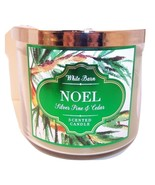 Bath & Body Works 3 wick 14.5 oz Candle   Silver Pine & Cedar  Noel