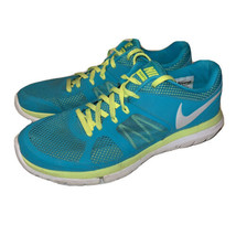 Nike Flex 2014 Run Women's Size 9 Tribe Green White Running Shoe 642767-300 - $20.30