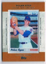 2013 Topps Manufactured Patch #MCP-14 Nolan Ryan NM-MT Mets - $22.72