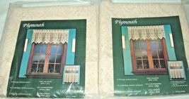 "2 NEW HOFFMAN LACE PLYMOUTH LACE VALANCE CURTAINS 58""W X 16""L RN36267 VI... - $28.87"