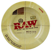 Raw Rolling Papers Logo Design Round Metal Ashtray 5 1/2 Inches Wide - $9.98
