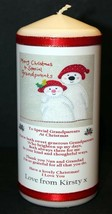 "Personalised gift  Grandparents Christmas candle Gift large 6""inch  #1 - $12.12"