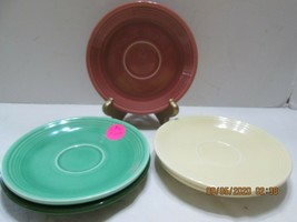 5  Fiestaware  SAUCERS ONLY   Different Colors   3 Marked (3) - $7.92